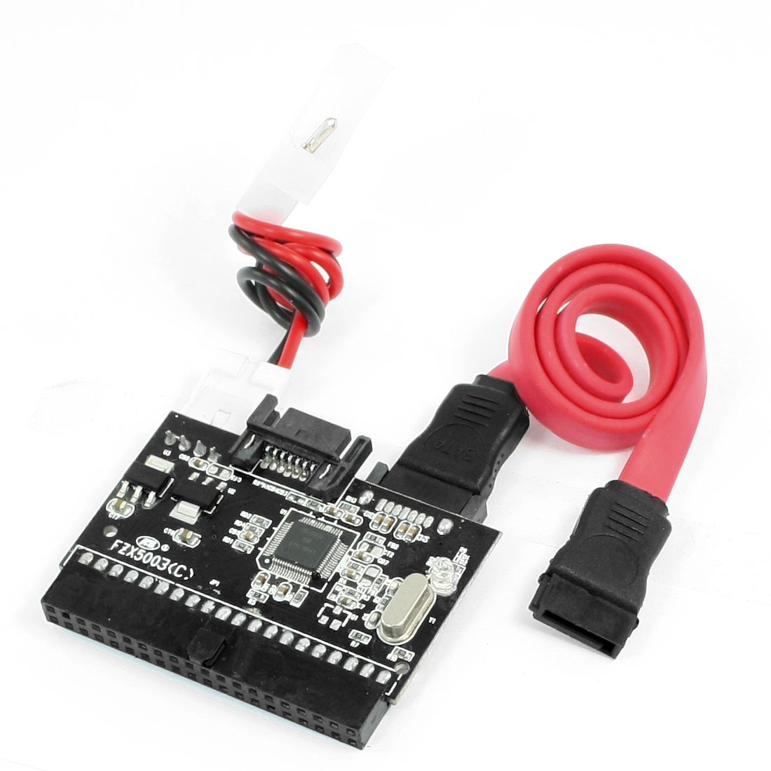 Bidirectional IDE to SATA Serial Bridge Converter Adapter Card w Cable
