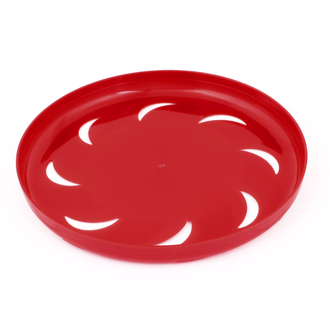 "Pet Dog Training Red Plastic Hollow Out Moon Flyer Disc Frisbee Toy 9.1"" Dia"