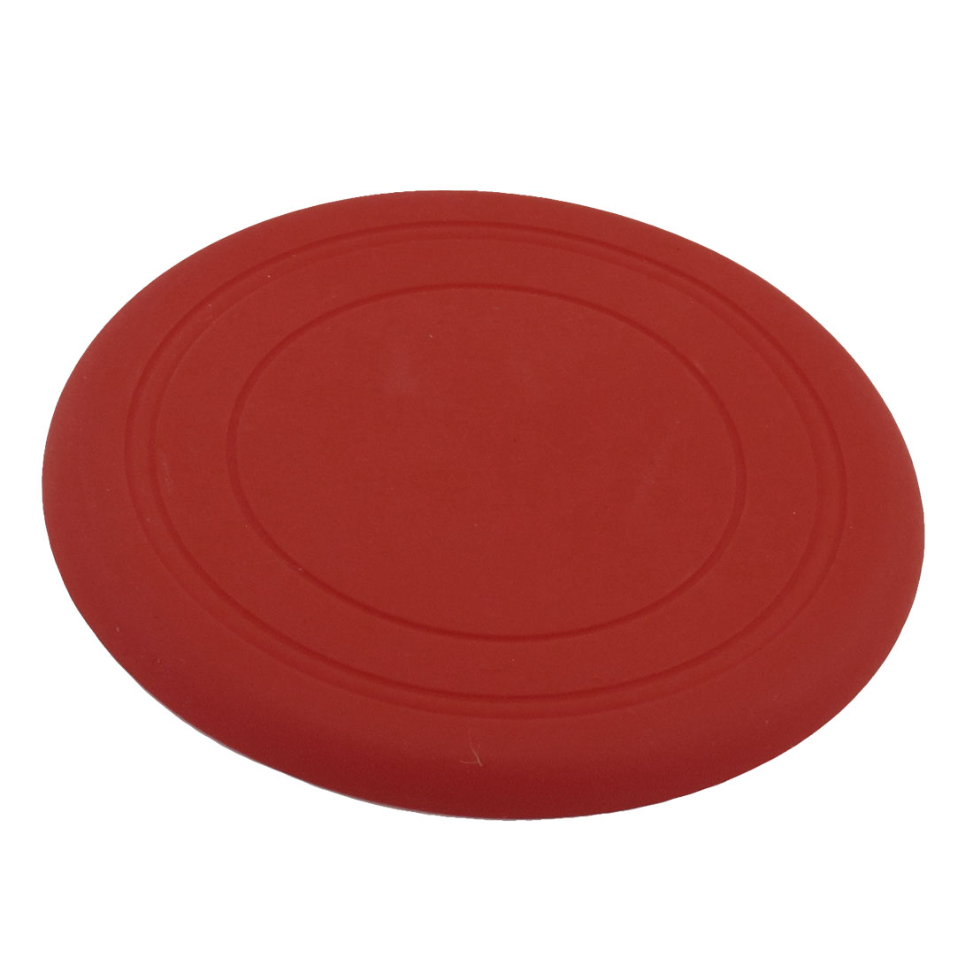 "Silicone Round Shaped Exercising Flying Frisbee Toy Pet Doggie Red 6.7"" Dia"