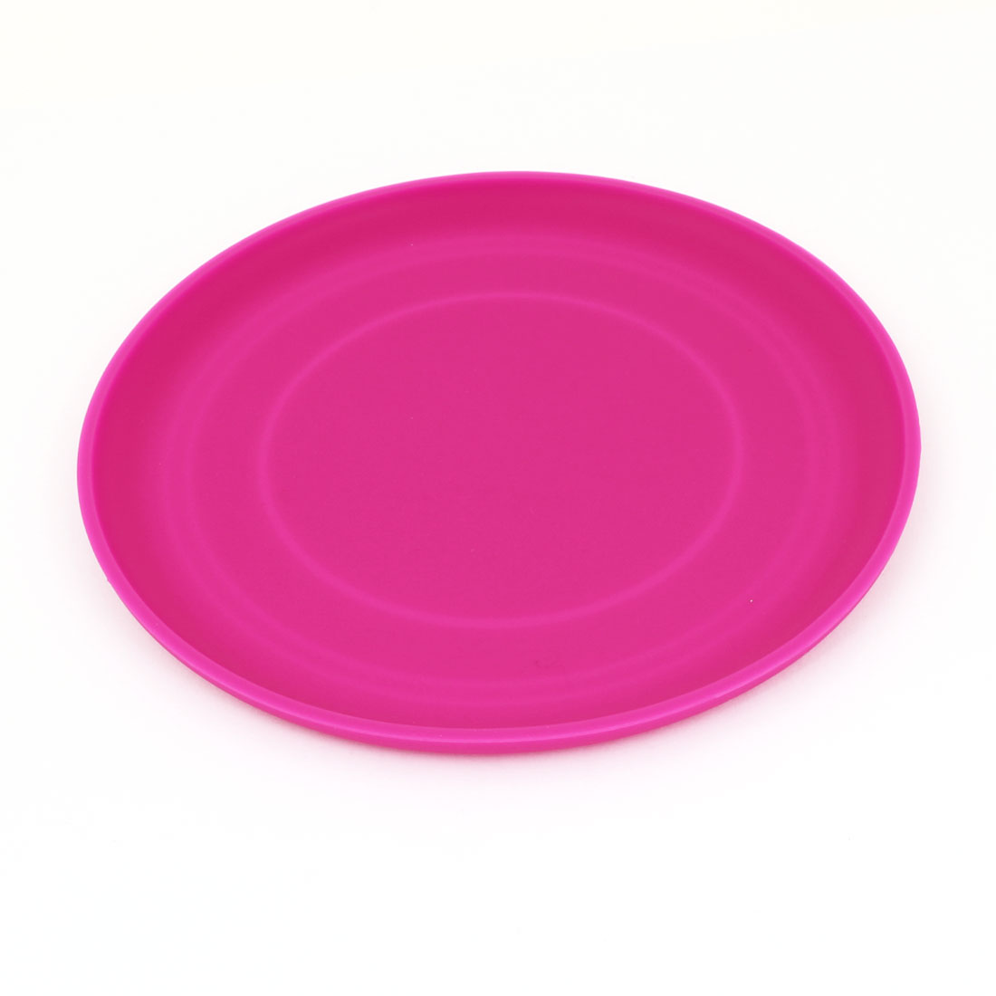 "6.7"" Diameter Fuchsia Silicone Flying Disc Frisbee Toy for Pet Doggie"