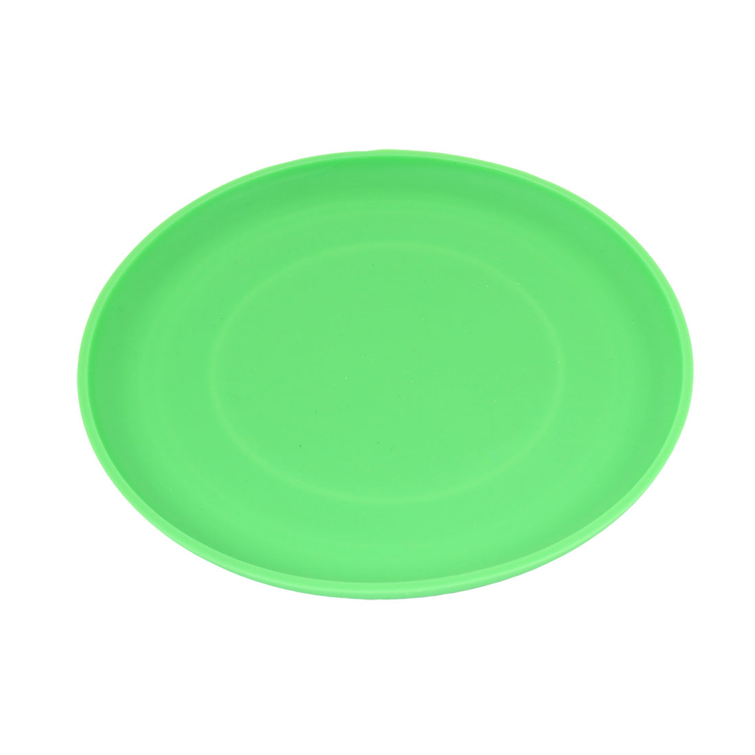 "6.7"" Diameter Green Silicone Flying Disc Frisbee Toy for Pet Doggie"