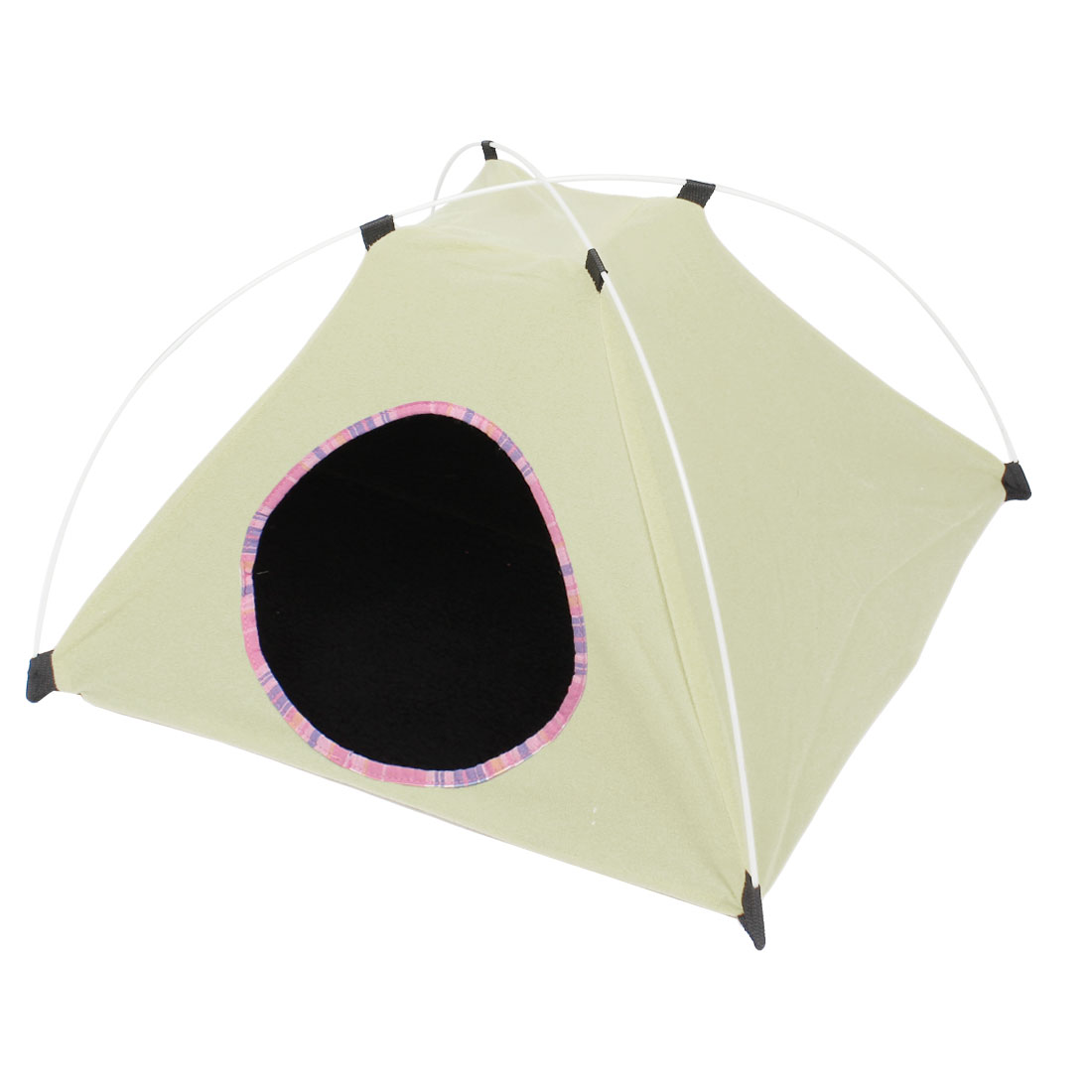 Folding Pet Dog Outside Travel Warm Tent Nest Kennel Bag Light Yellow