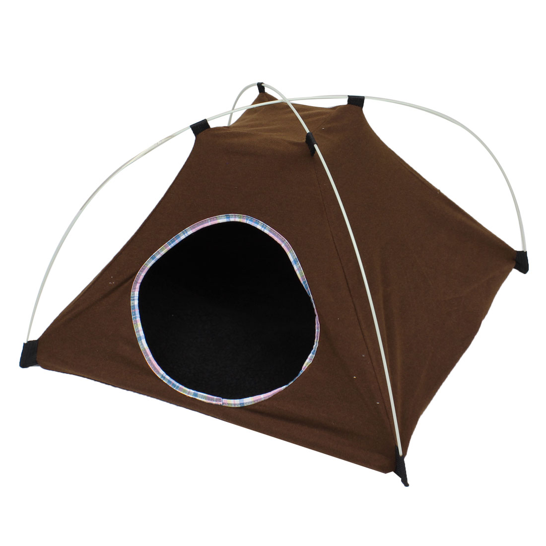 Coffee Color 22cm Entrance Hole Dia Pet Dog Foldable Tent Nest Doghouse