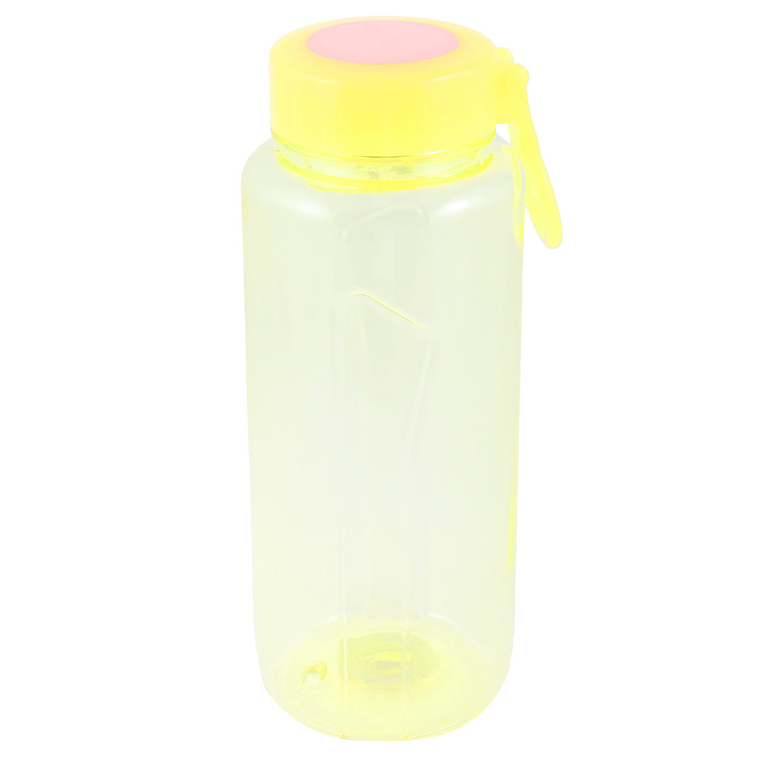 750ML Plastic Drinkware Handheld Sports Water Bottle Clear Yellow