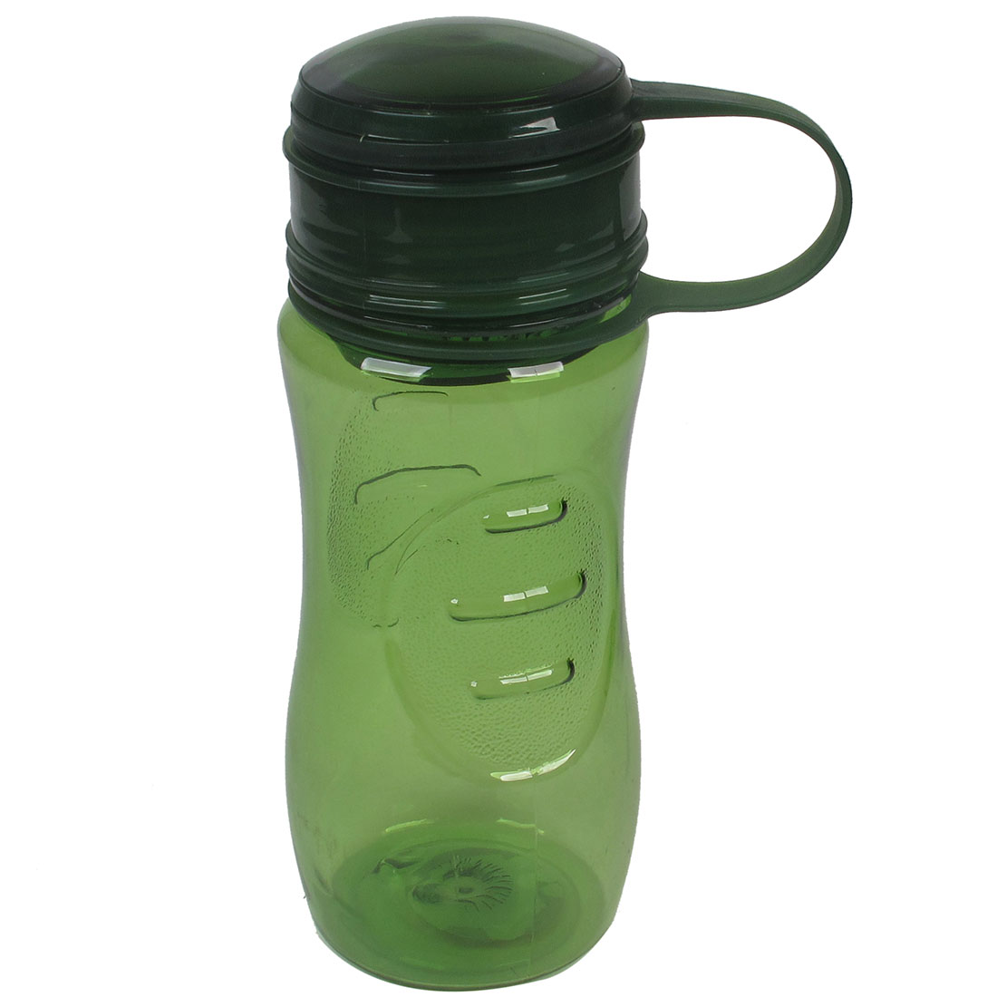 Portable Green Lid Plastic Clear Water Tea Bottle Cup Holder 400ml