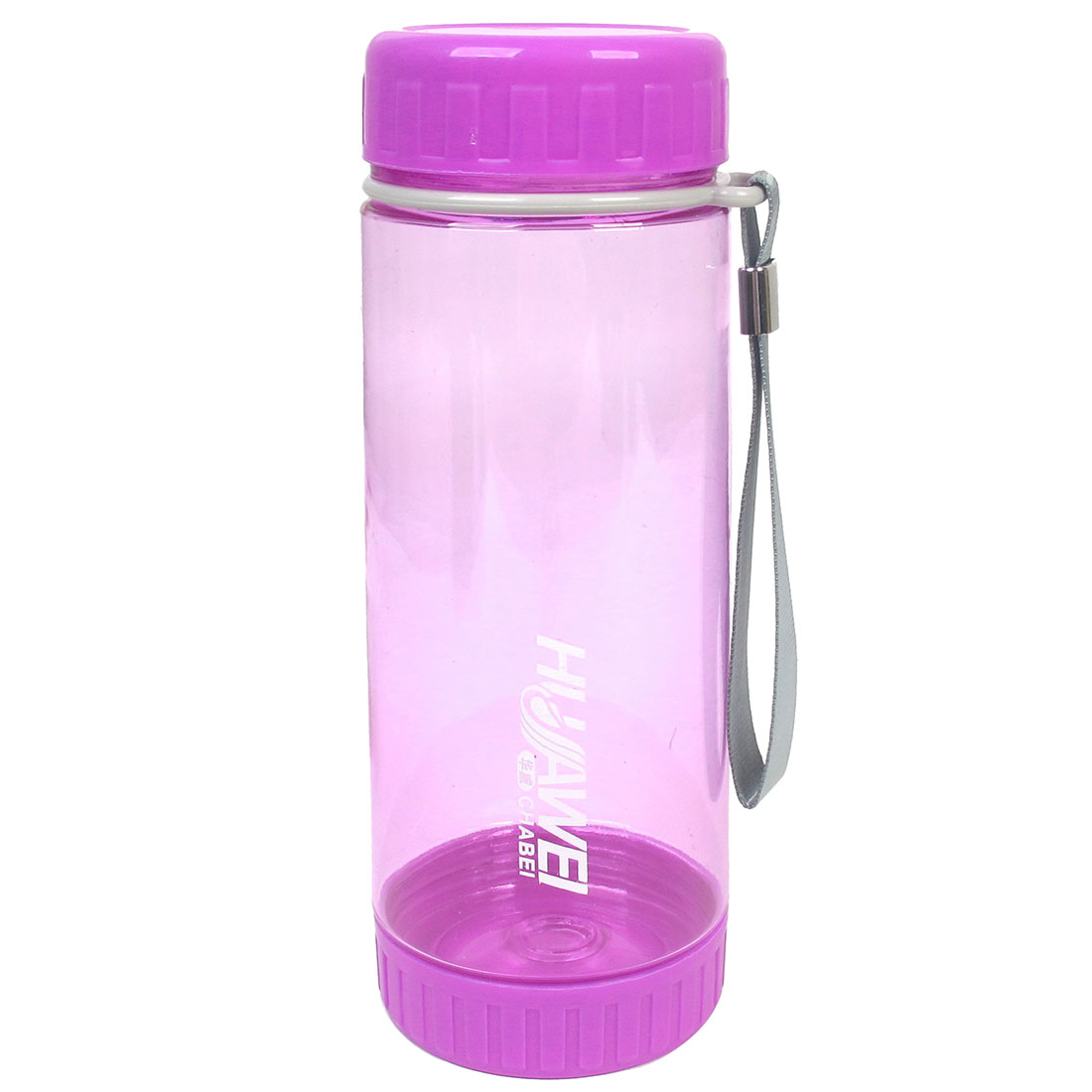 Camping Cylindric Shaped Fuchsia Plastic Clear Water Bottle Holder 560ml