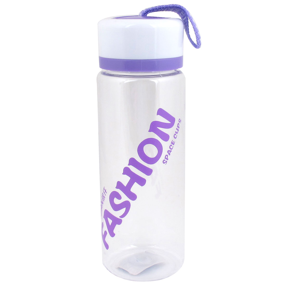 Portable 420ml Capacity Cylinder Shaped Plastic Clear Water Bottle Cup