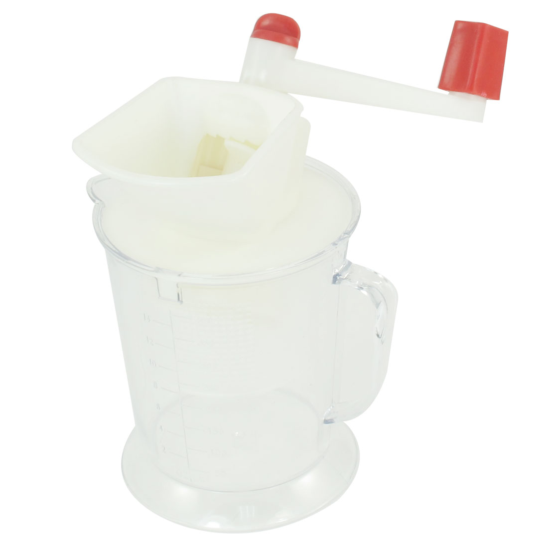 Portable Clear Plastic Bowl 400ml Capacity Meat Citrus Lemon Manual Juicer