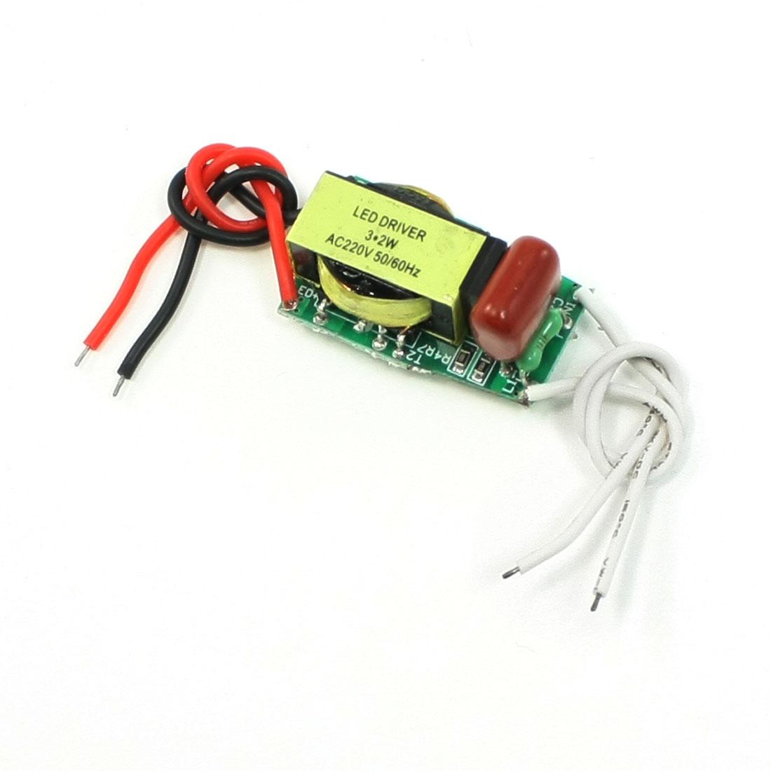 AC 110-220V DC 30-66V 300mA Power Supply Transformer for 3x2W LED Light