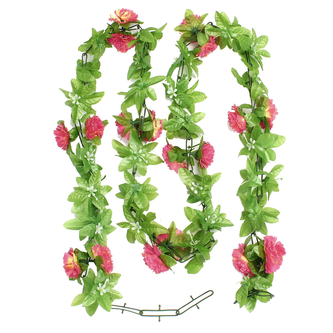 Festivals Artificial 2M 6.6 Ft Pink Fabric Carnation Ivy Ornament