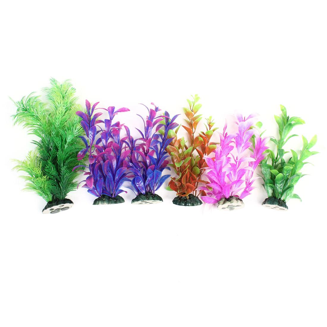 "6 Pcs 7.5"" High Artificial Water Grass for Fish Tank Aquarium"