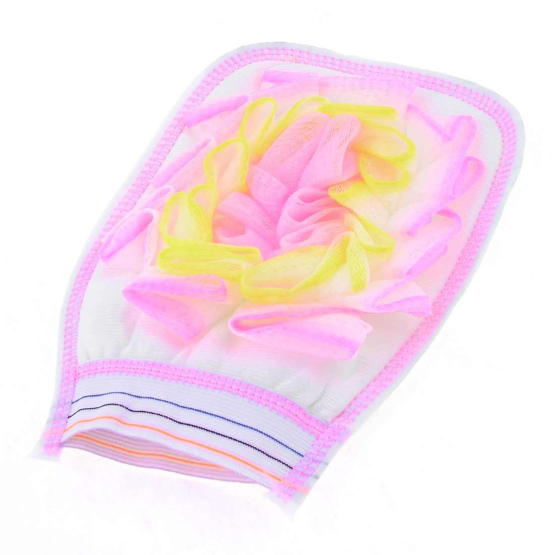 White Green Stripes Pattern Shower Bath Sponge Glove
