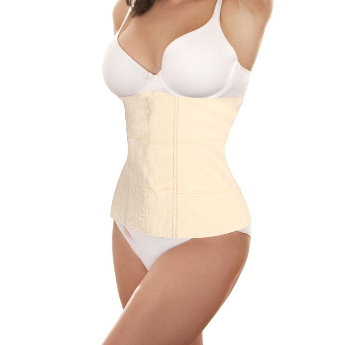 Woman Shapewear Tummy Slimmer Girdle Corset Control Waist Cincher Beige XS