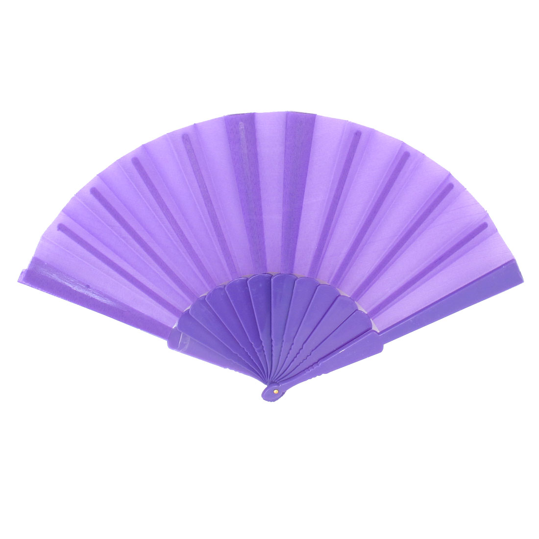 Ladies Men Summer Portable Plastic Fabric Hand Foldable Fan Purple
