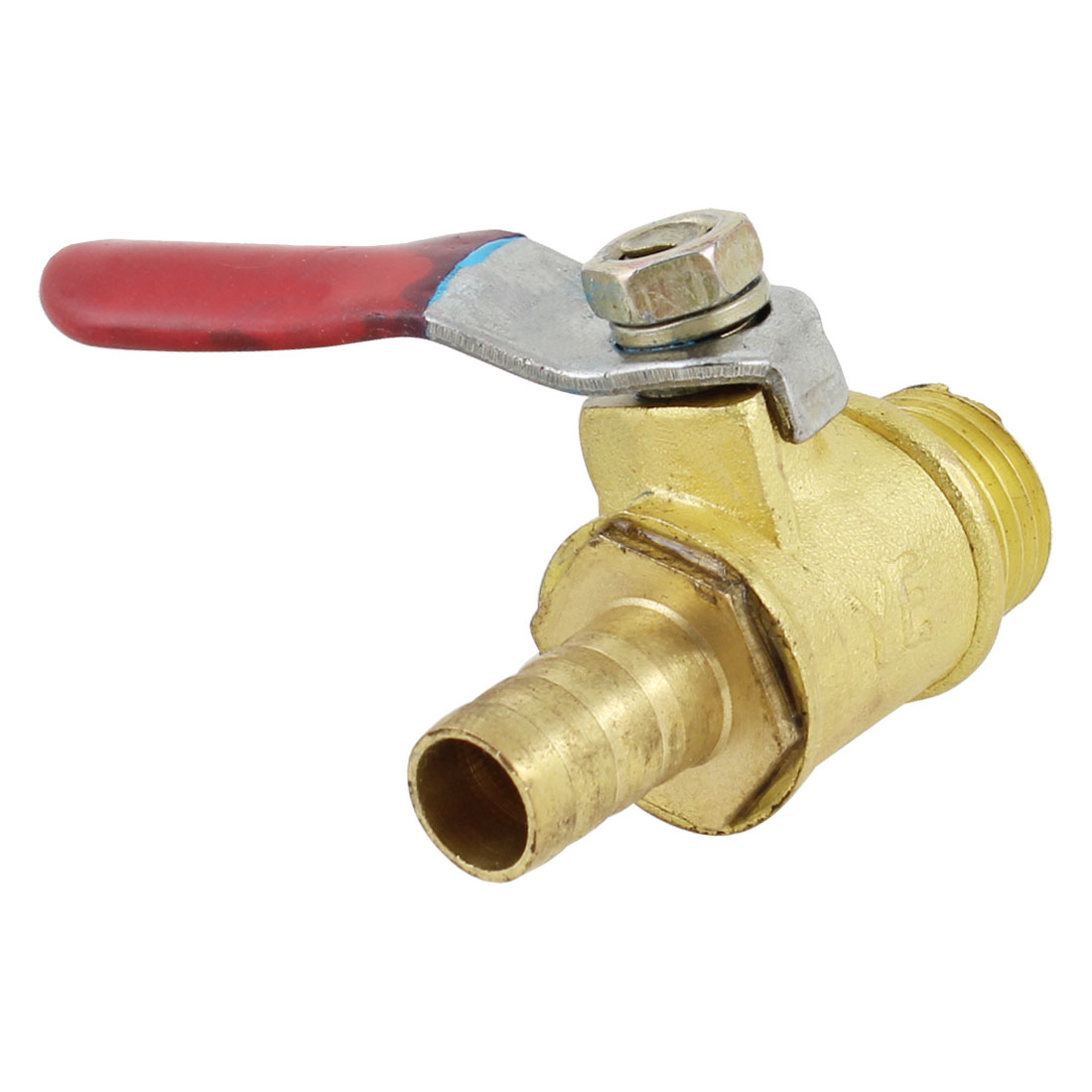 Pneumatic Fitting 13mm Male Thread to 7mm Hose Tail Connector Gas Ball Valve