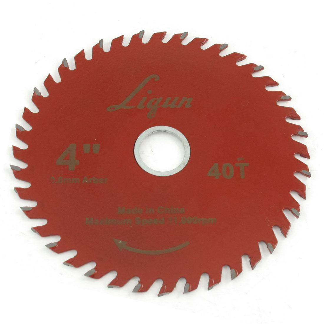 Red 105 x 20mm 40 Teeth Metal Cutting Slitting Saw Cutter