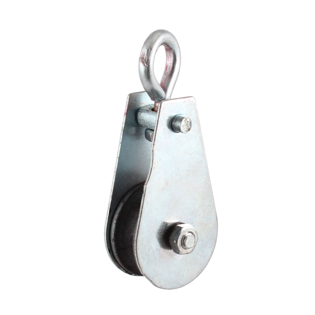 0.05T Cargo Lifting Tackle Single Groove Sheave Pulley Silver Tone