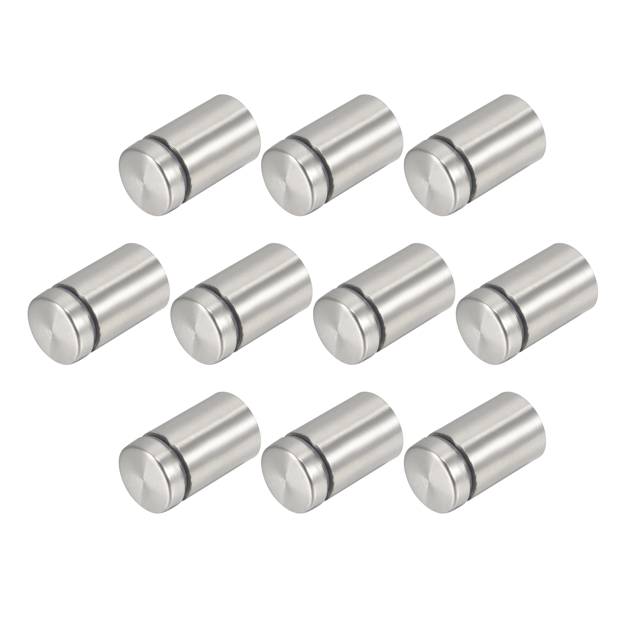 10 Pcs Silver Tone Stainless Steel 19 x 32mm Standoff Hardware for Glass