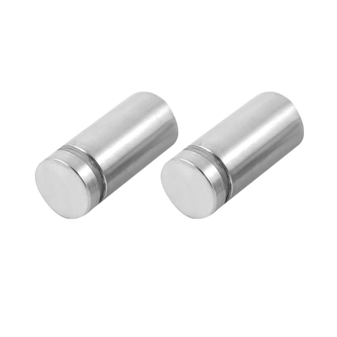 2 Pcs Silver Tone Stainless Steel 19 x 40mm Standoff Hardware for Glass