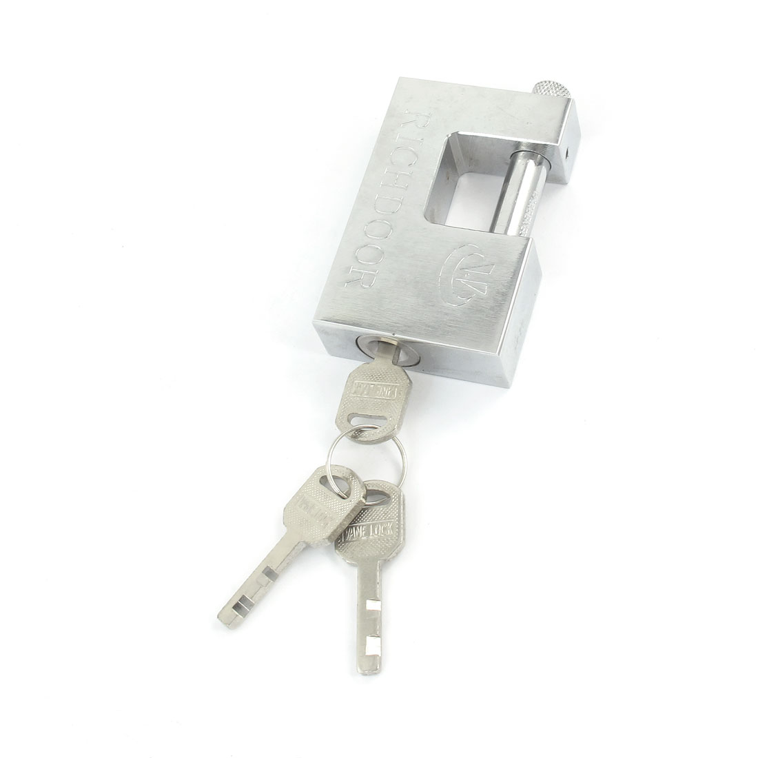 Silver Tone Metal Door Drawer Cupboard Locking Lock w 3 Keys