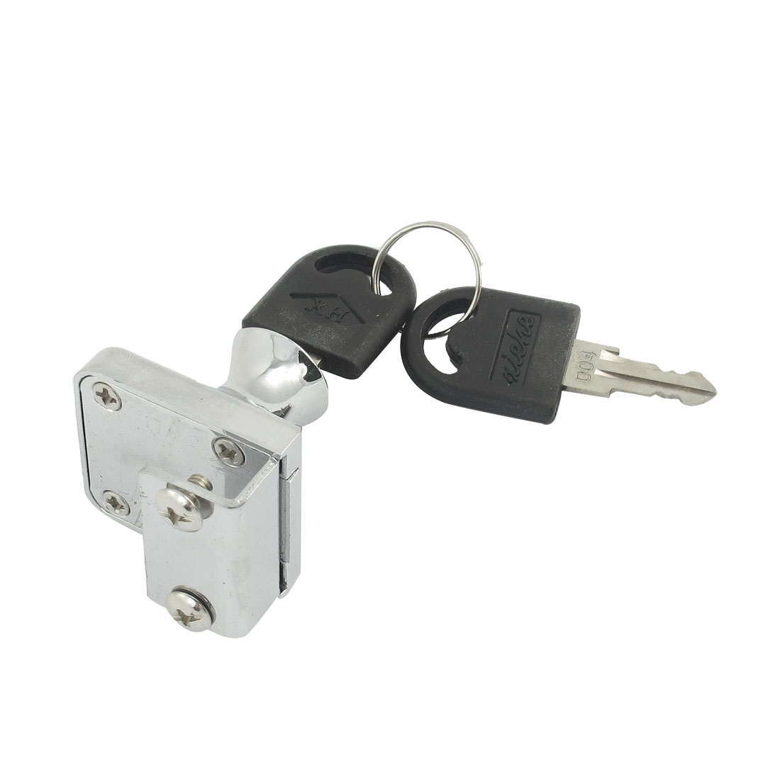 Family Silver Tone 34 x 30mm Door Desk Drawer Cabinet Lock