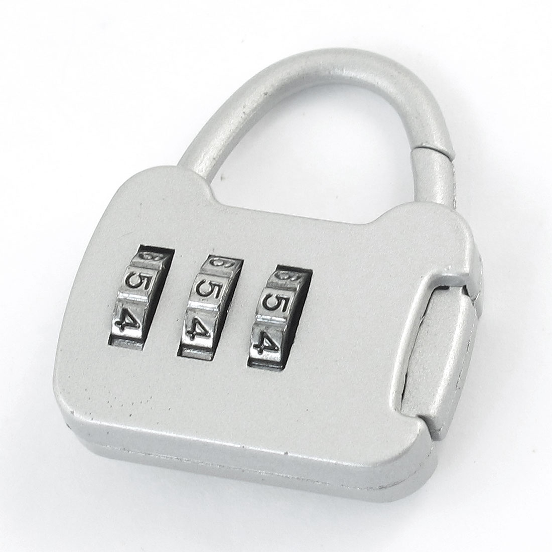 Travel Light Gray Plastic Luggage Suitcase Bag Code Lock Padlock