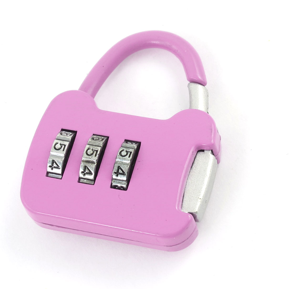 Travel Pink Plastic Luggage Suitcase Bag Code Lock Padlock