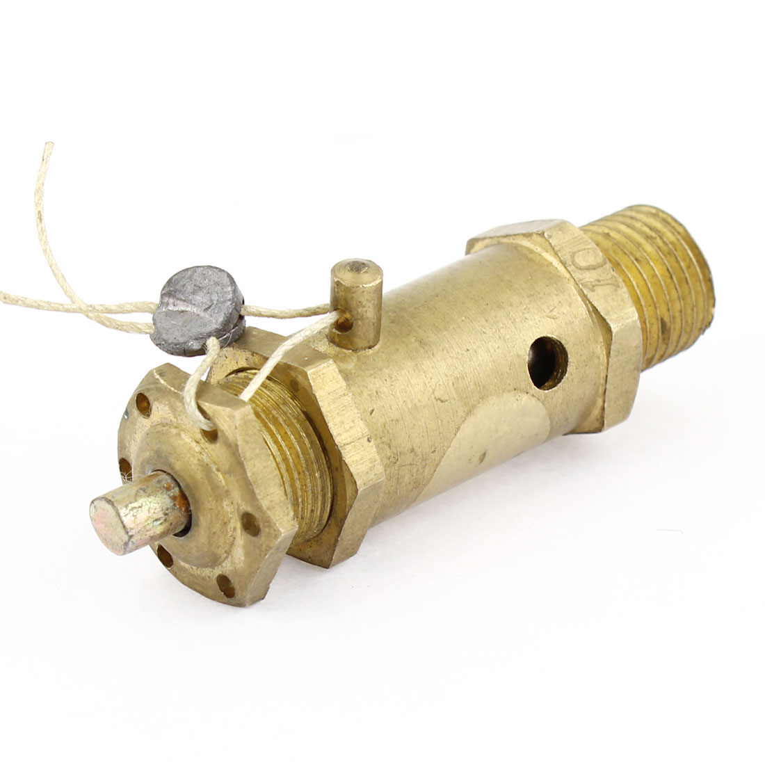 "1/4"" Thread Metal Safety Pressure Relief Valve Gold Tone for Air Compressor"