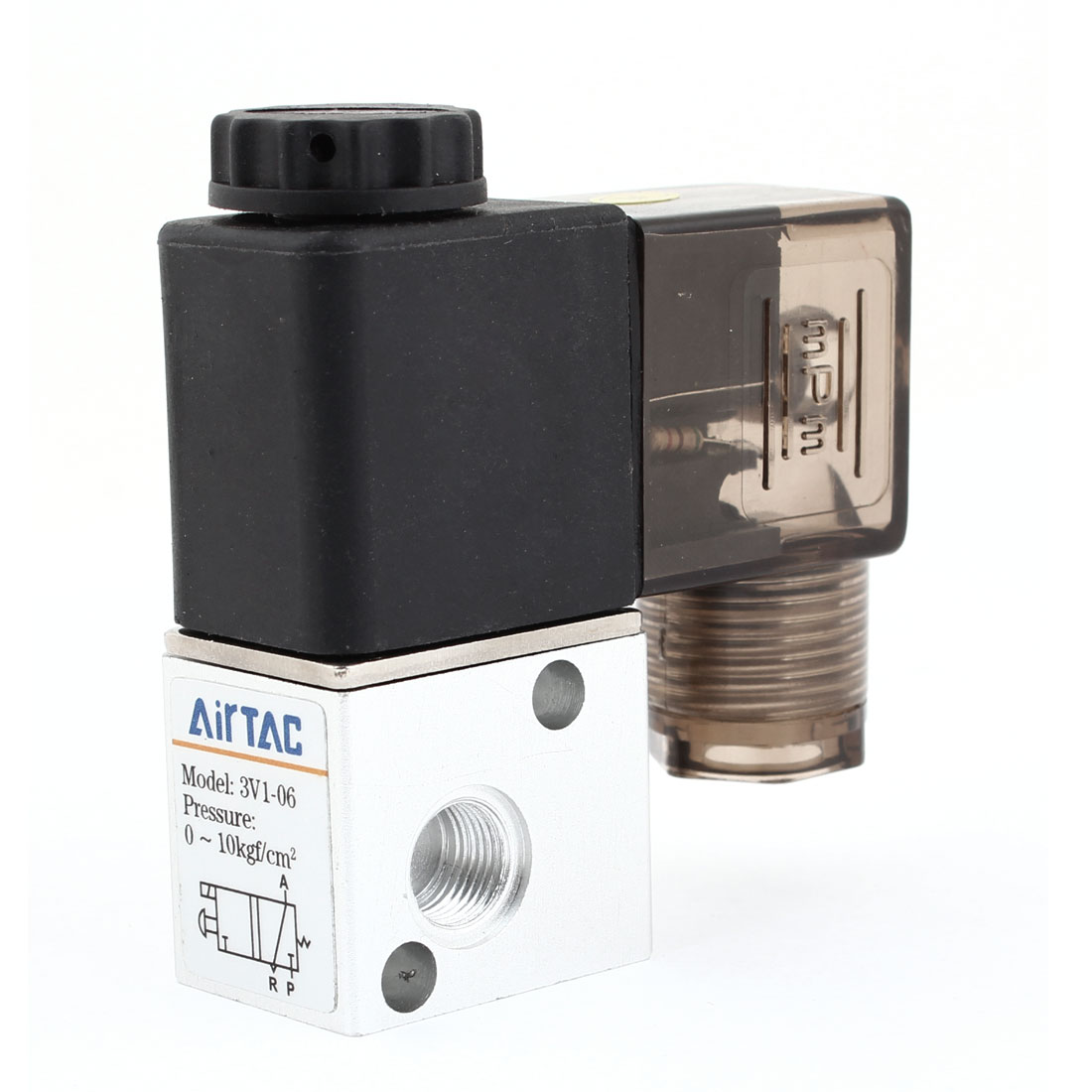 3V1-06 125mA DC 12V 2 Position 3 Way Pneumatic Solenoid Valve