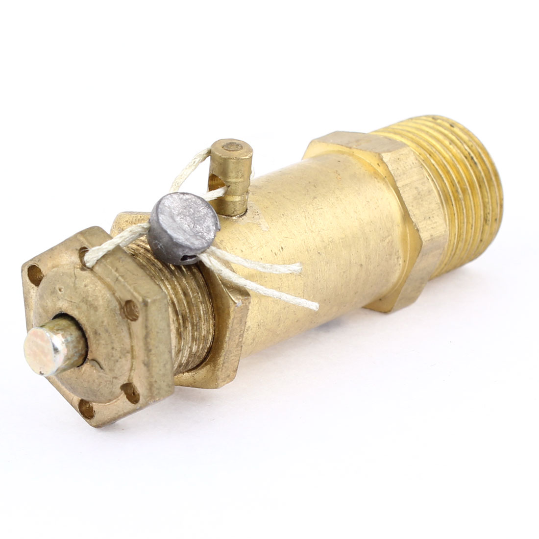 "Air Compressor Spare Part Gold Tone 3/8"" Thread Safety Pressure Relief Valve"