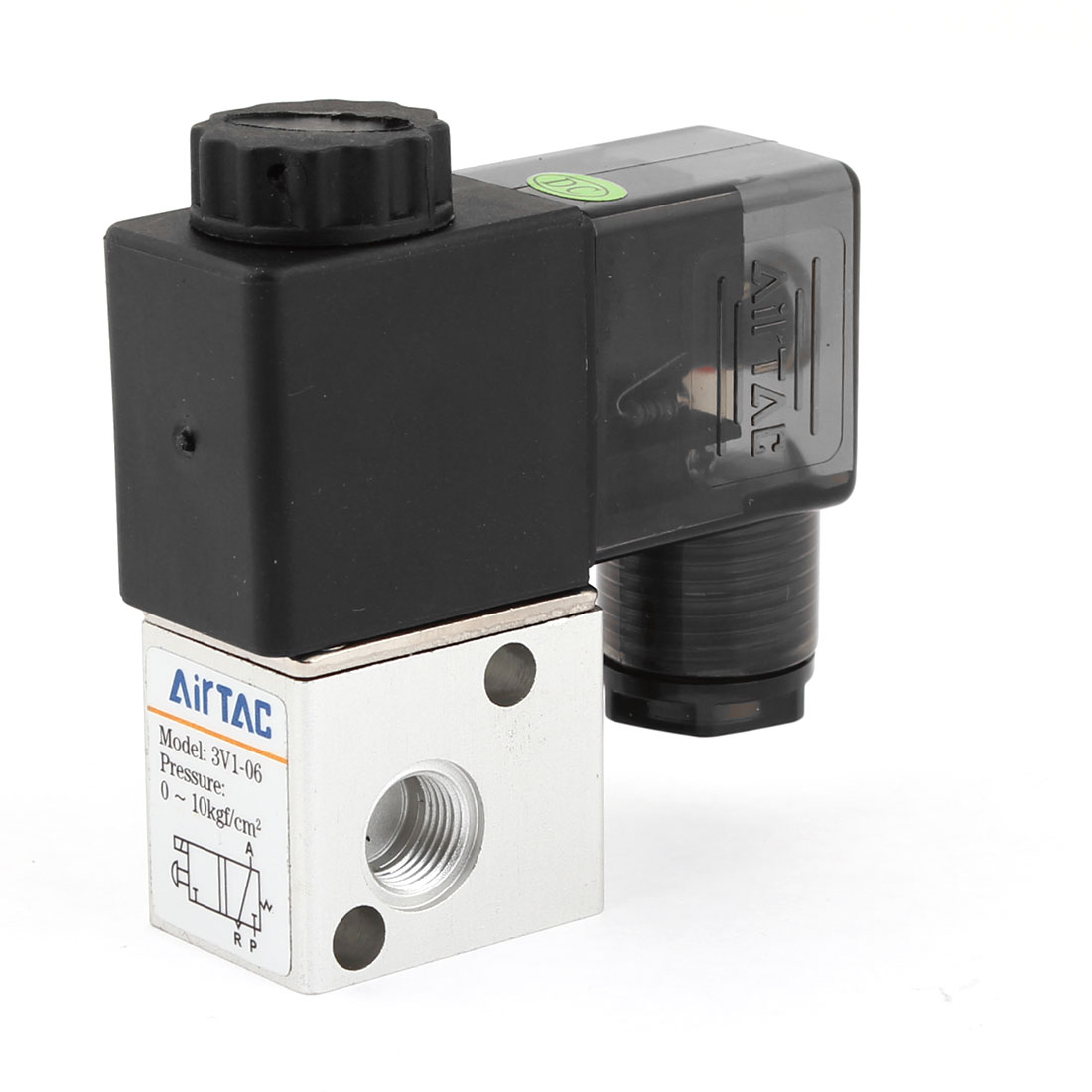 3V1-06 2 Position 3 Way Pneumatic Solenoid Valve DC 12V 4.8VA 400mA