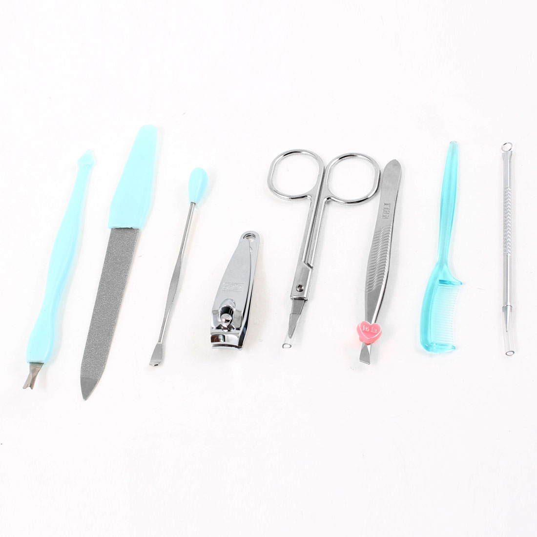 8 in 1 Beauty Care Nail Clipper File Tweezers Manicure Tool Set for Woman