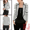 Allegra K Ladies Newly One Hook Eye Closure Design Black White Casual Blazer XS
