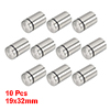 10 Pcs Silver Tone Stainless Steel 19 x 30mm Standoff Hardware for Glass