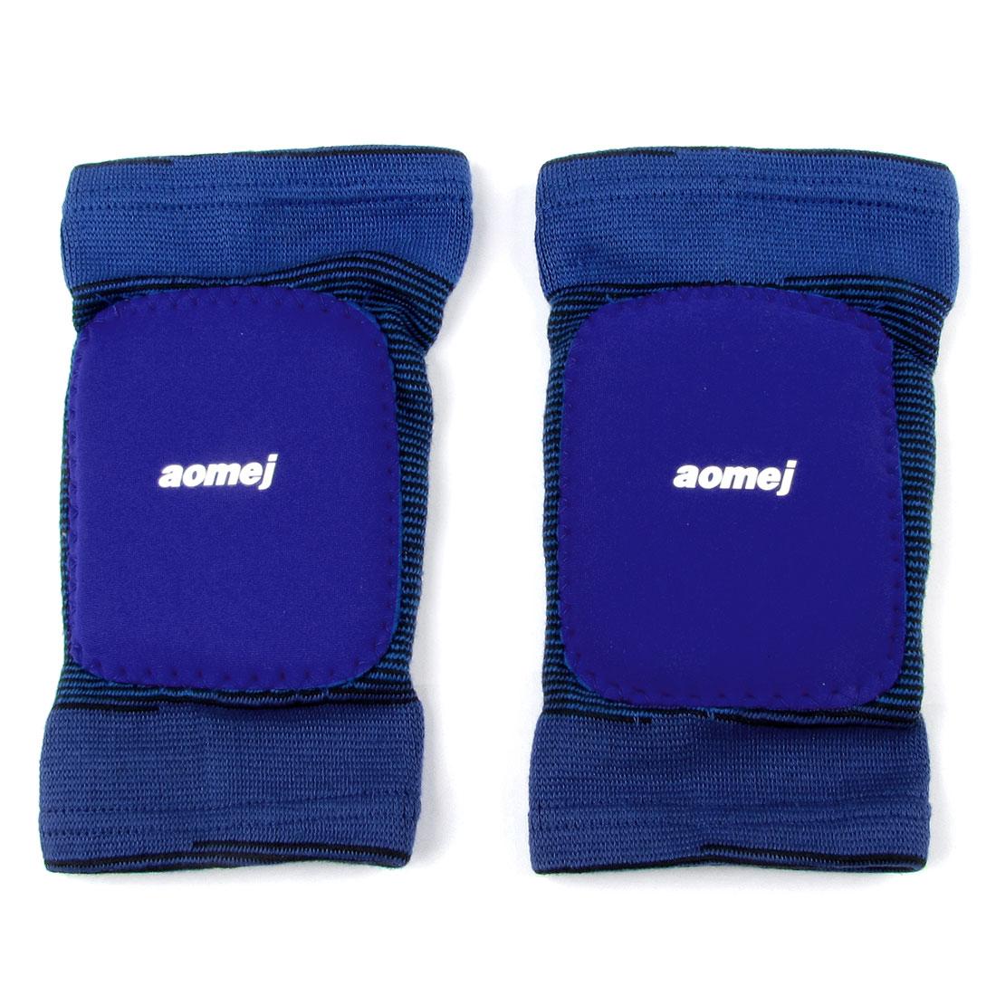 Sports Elastic Pullover Blue Knee Protective Brace Support Pair for Children