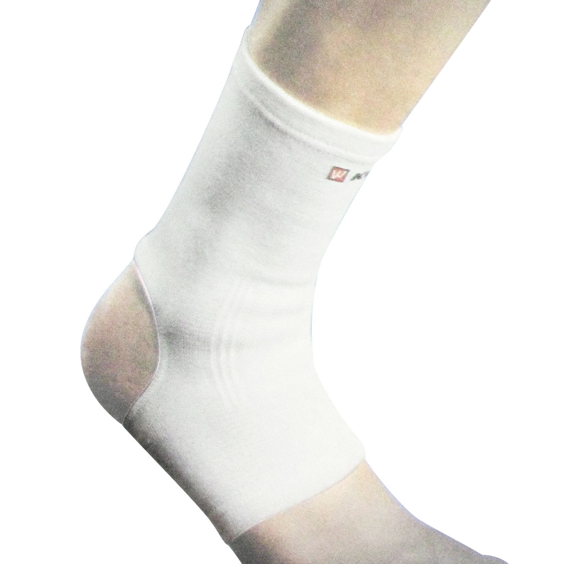 White Spandex Hook Loop Fastener Closure Ankle Support Protector