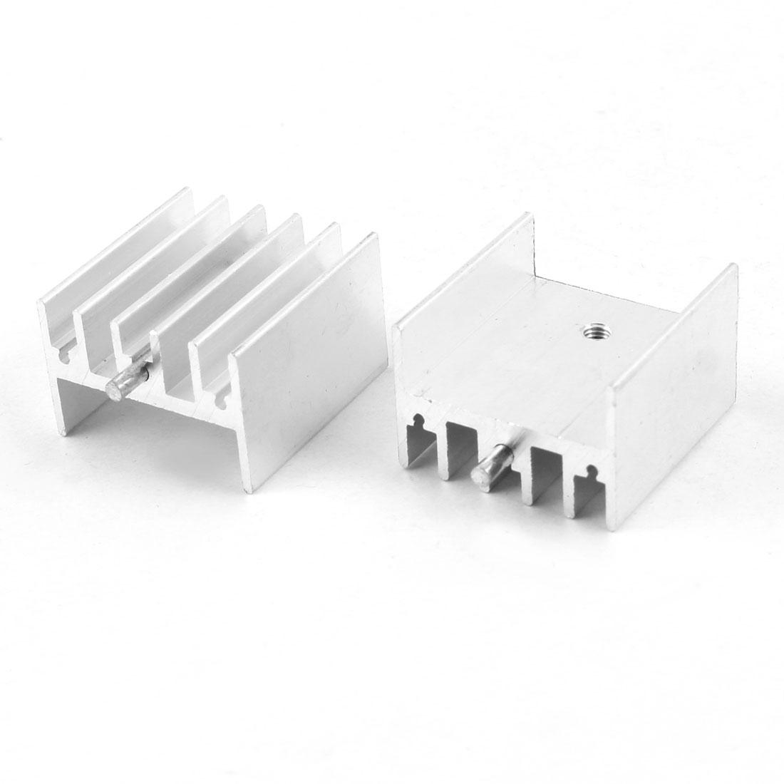 2 x Heat Dissipation Aluminium Heatsink Cooling Fin 23mmx15mmx25mm