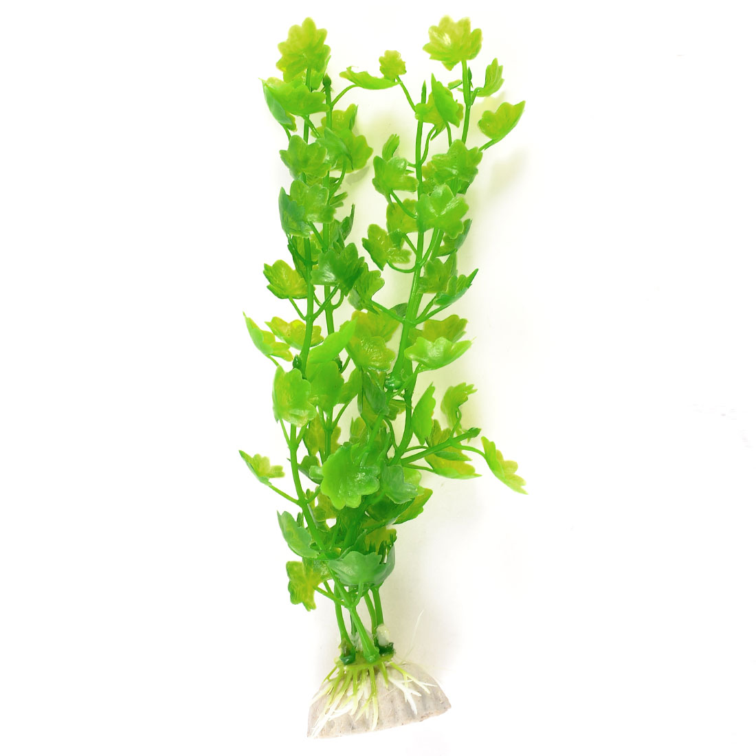 "8"" Height Fish Tank Landscaping Decor Manmade Plastic Water Plant Green"