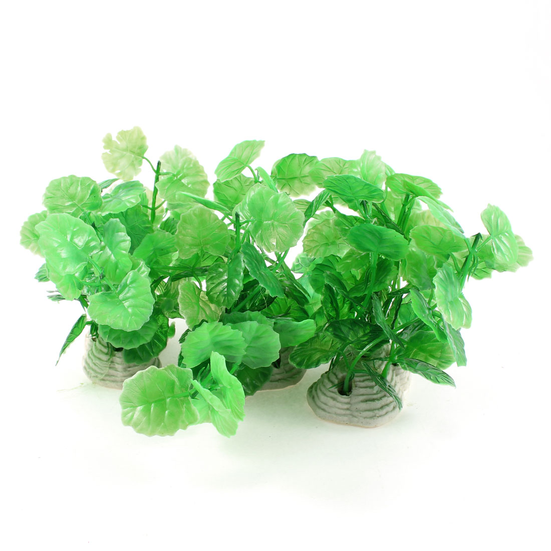 3 Pcs Fish Tank Green Water Grass Plastic Aquatic Plants Ornament