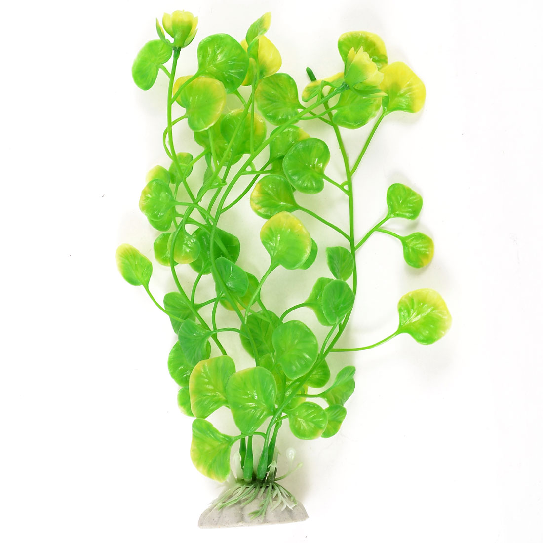 "8.3"" High Aquascaping Water Plant Ornament Green Yellow for Aquarium"