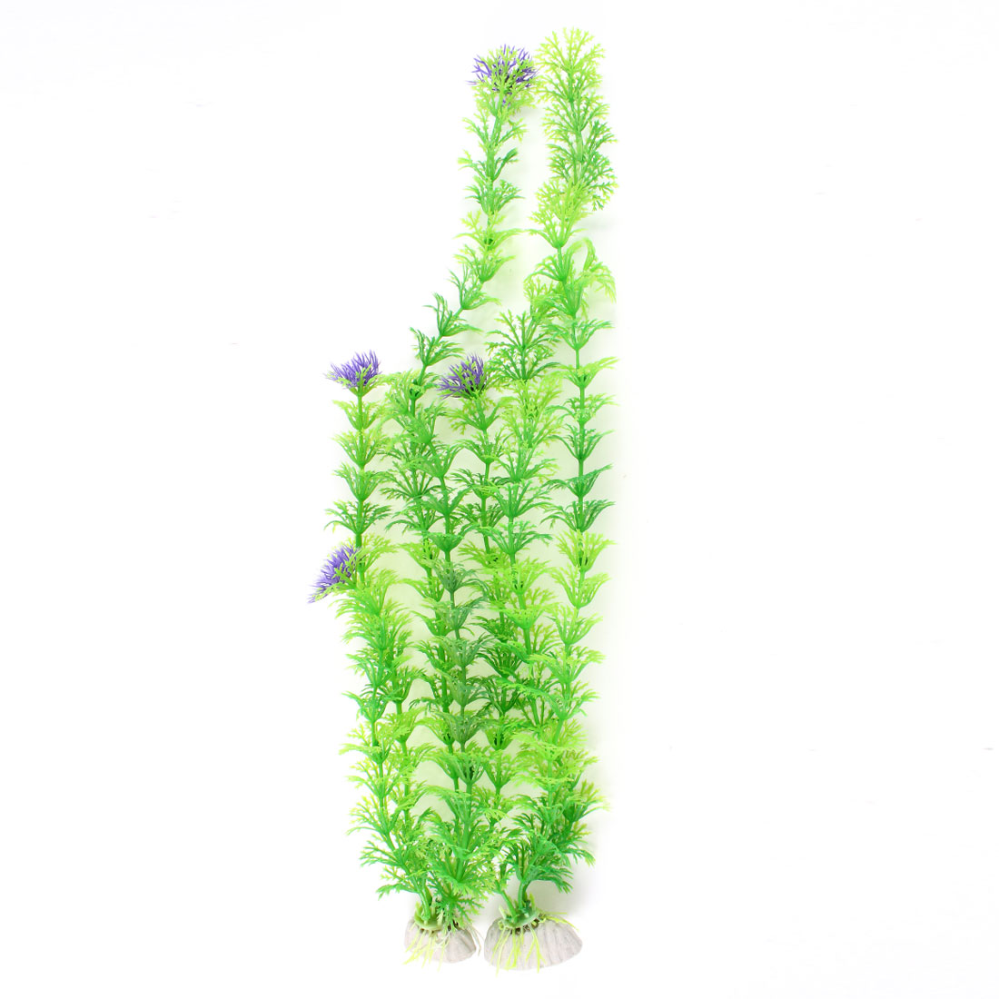 2 Pcs Green Emulational Underwater Grasses Plant Ornament for Fish Tank