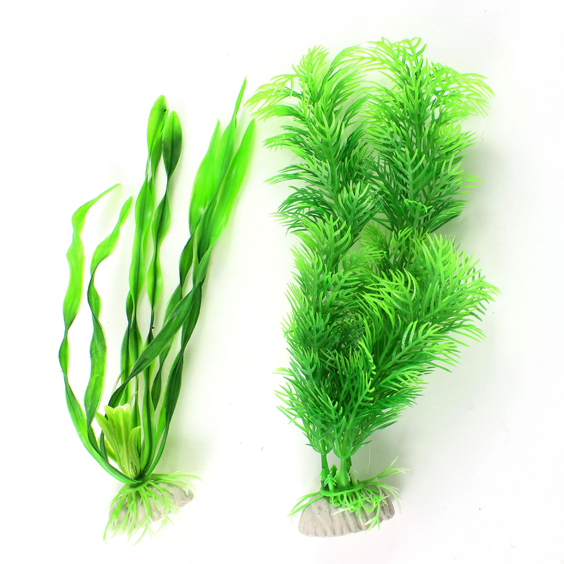 2 Pcs Landscaping Emulational Water Grasses Plants Green for Fish Tank