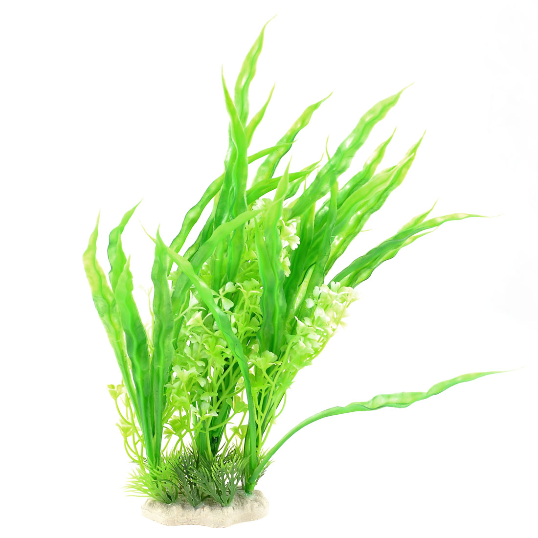 "11.8"" Landscaping Green White Plastic Aquarium Water Grass Plants Ornament"
