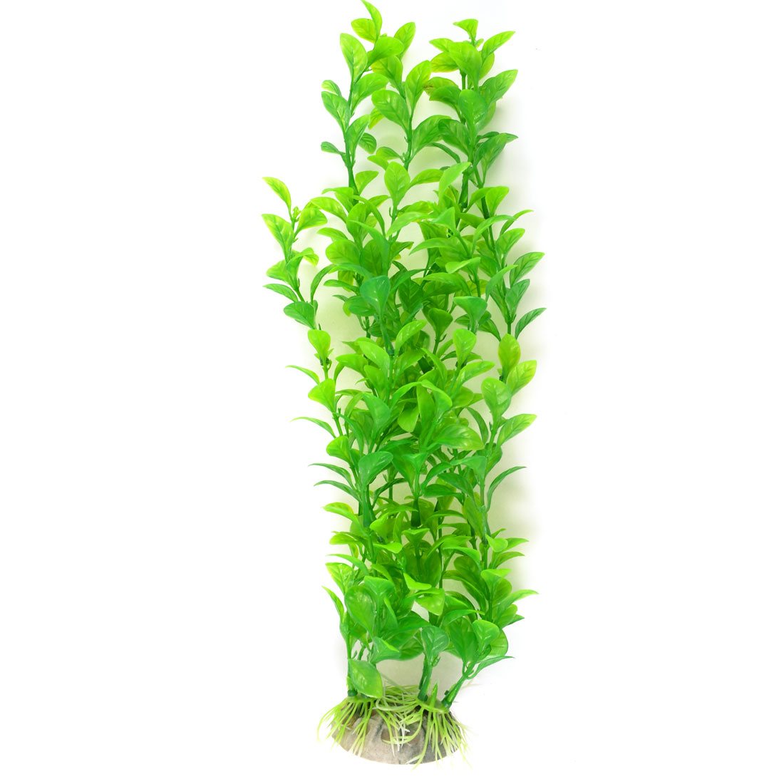 "Aquarium Landscaping Ornament Plastic Water Plant Grass Green 12.6"" High"