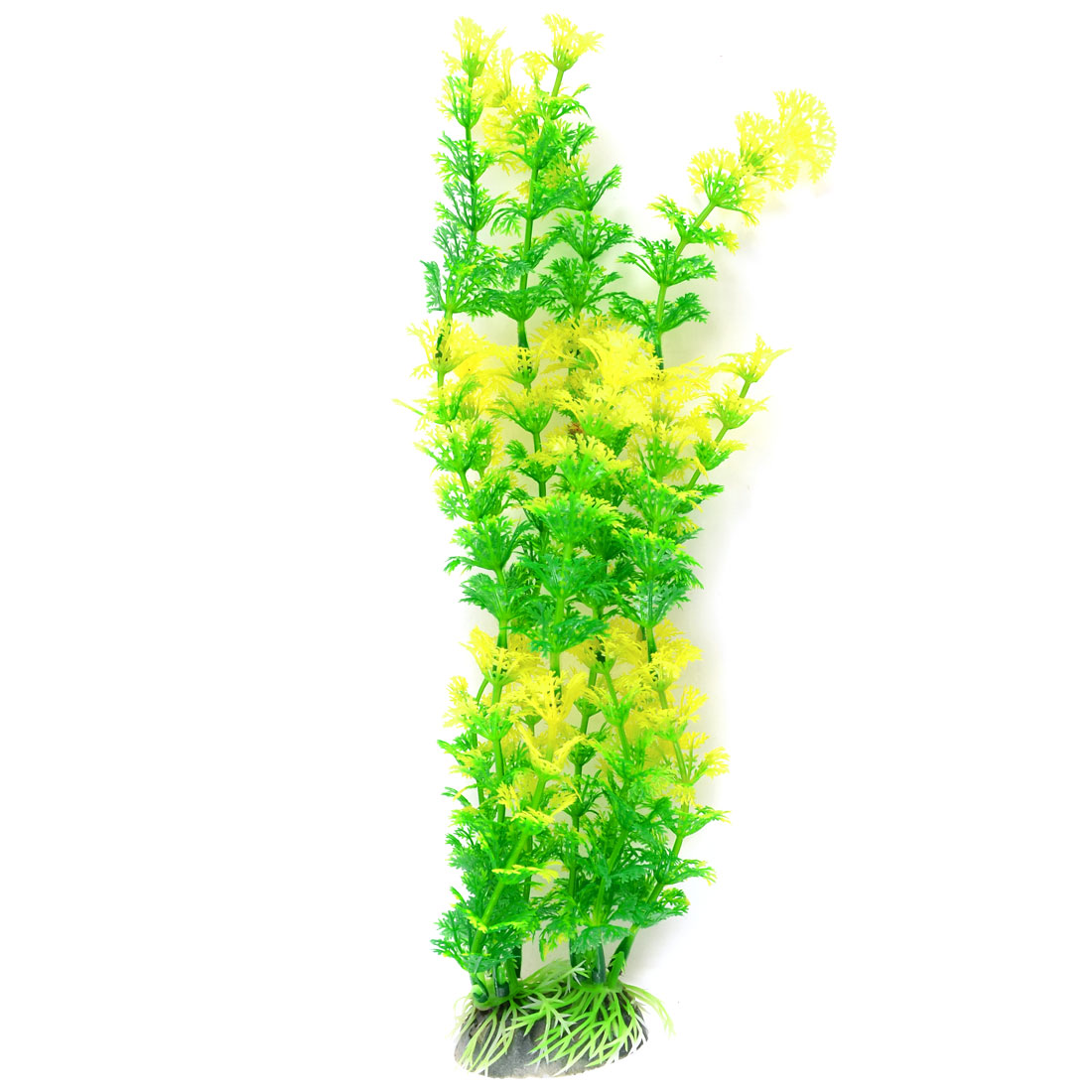 "12.2"" High Green Yellow Aquarium Aquascaping Simulation Underwater Plant Decor"