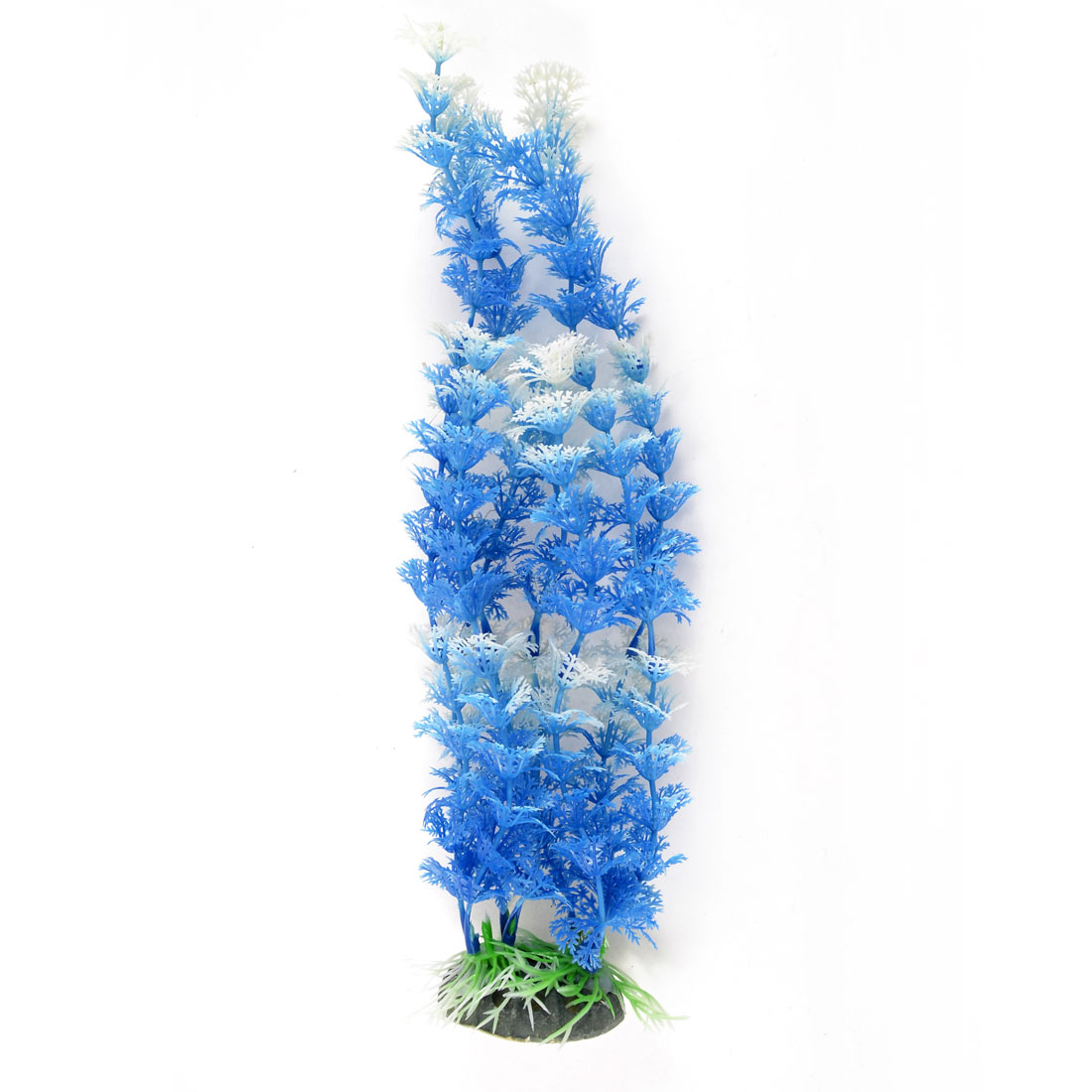 Fish Tank Decor Aquascaping Emulational Water Plant Grass Blue White