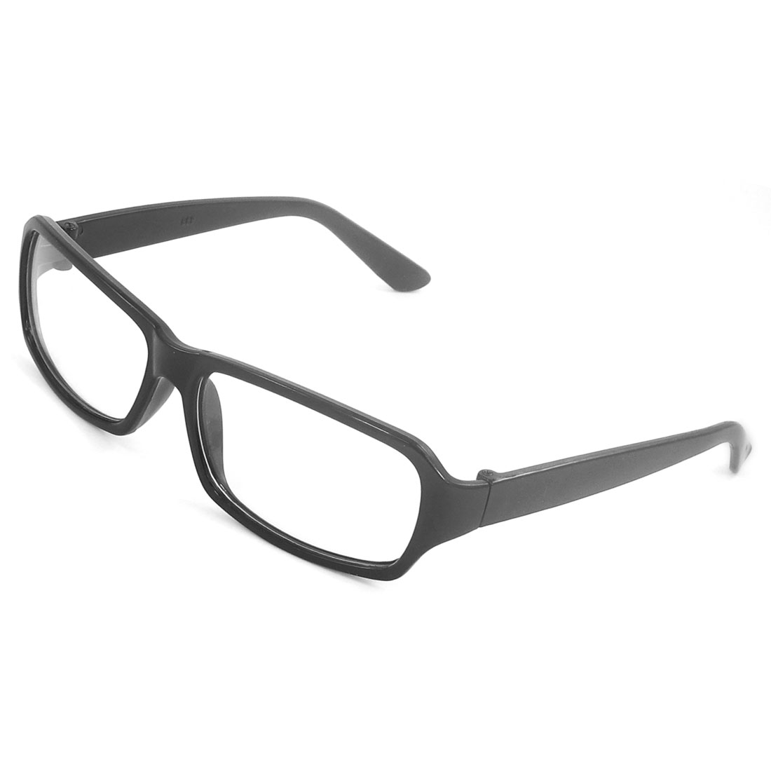 Black Plastic Full Frame Plain Eyewear Eyeglasses for Lady Men