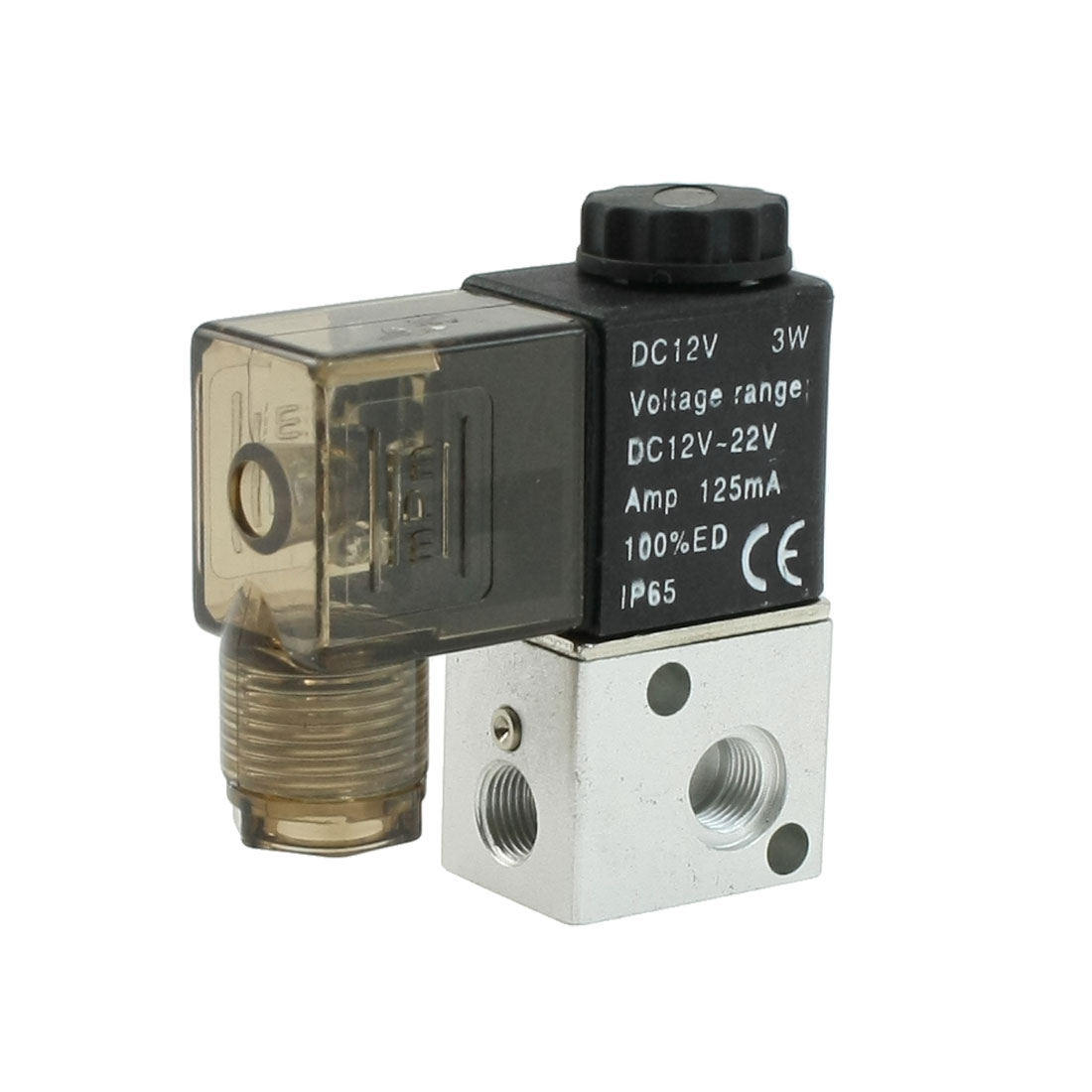 Single Head 2 Position 3 Port Pneumatic Solenoid Valve DC 12V