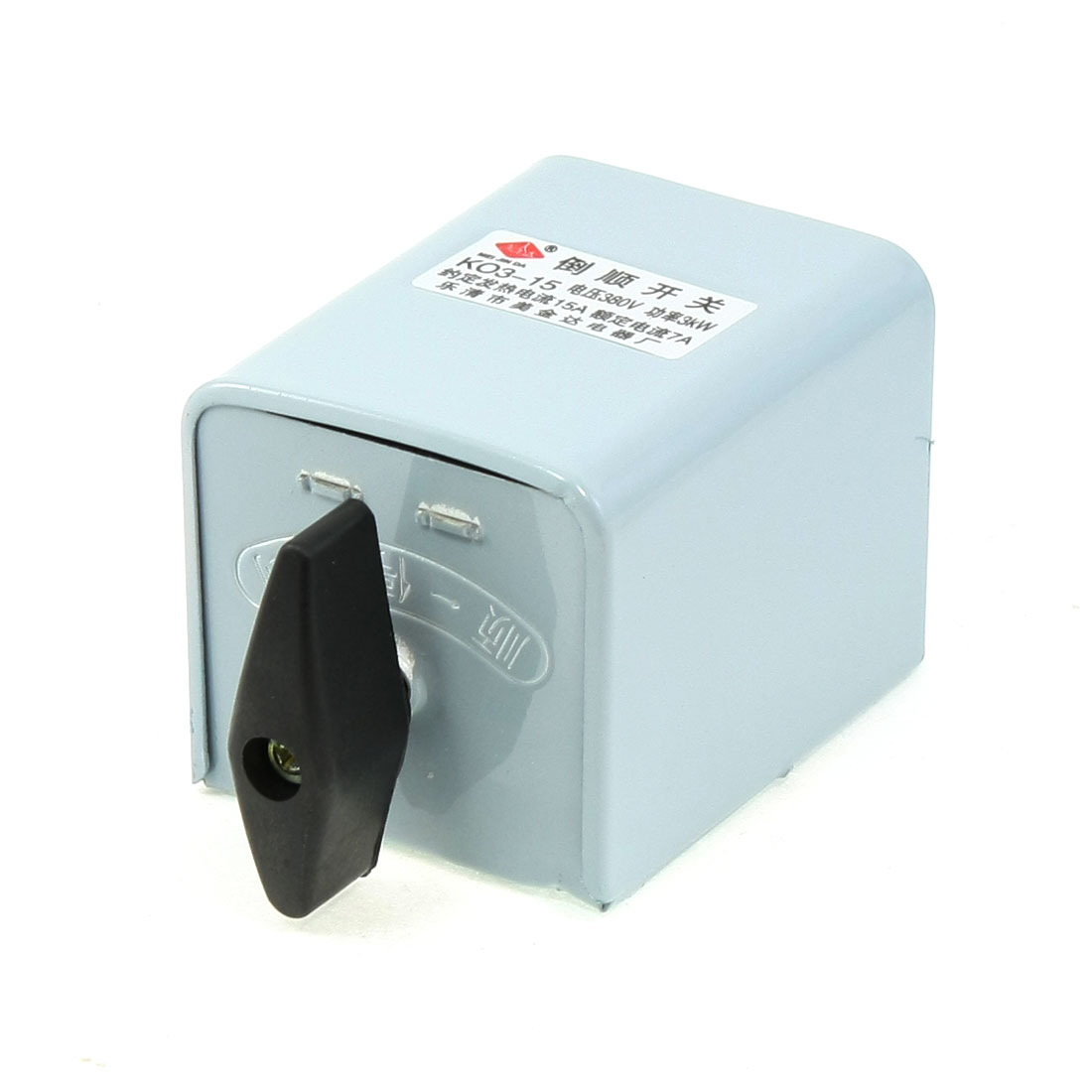 380V 3KW Rotary Motor Control Forward Reversing Changeover Switch KO3-15