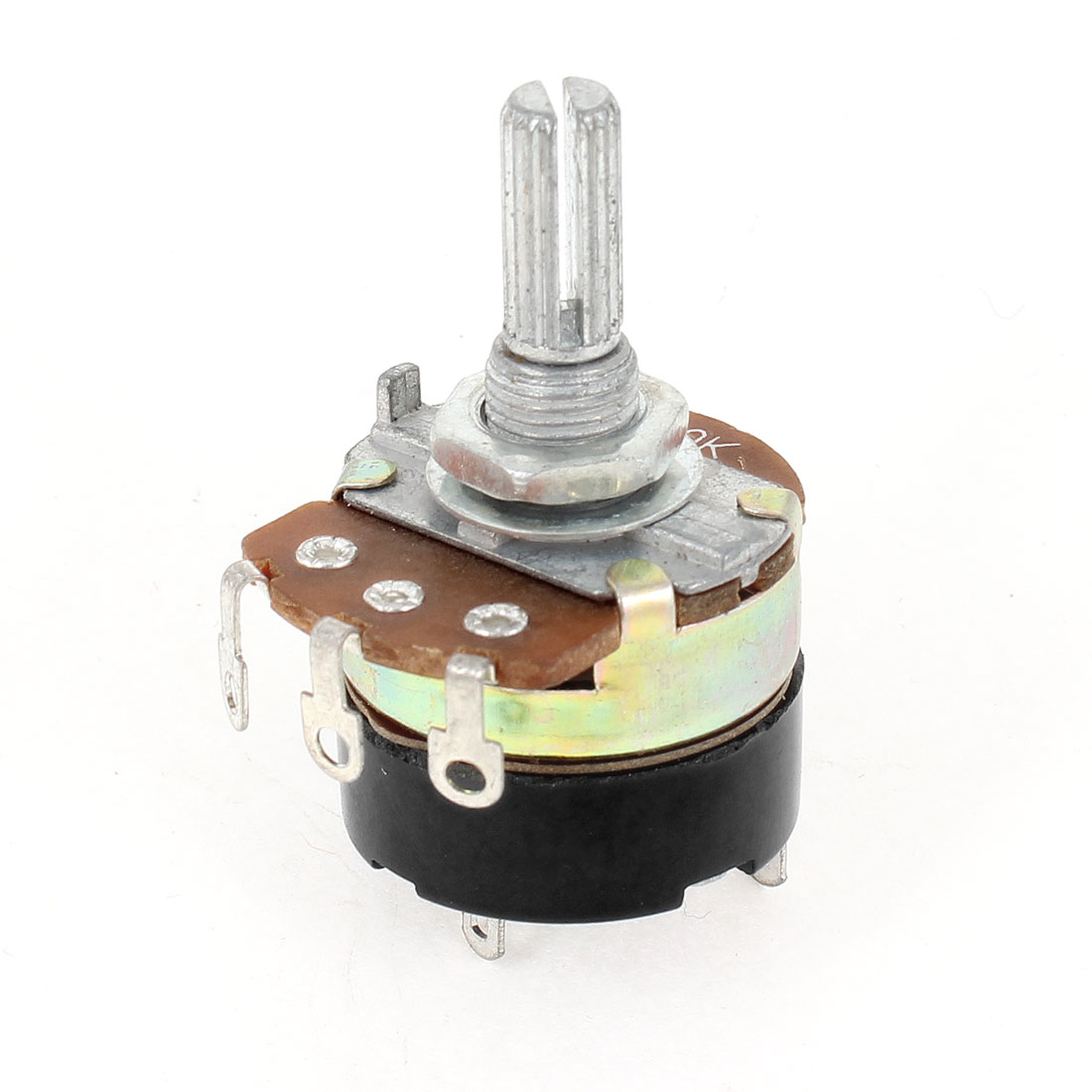 Round Shaft 7.5mm Thread Dia Carbon Rotary Taper Potentiometer 50K ohm B50K